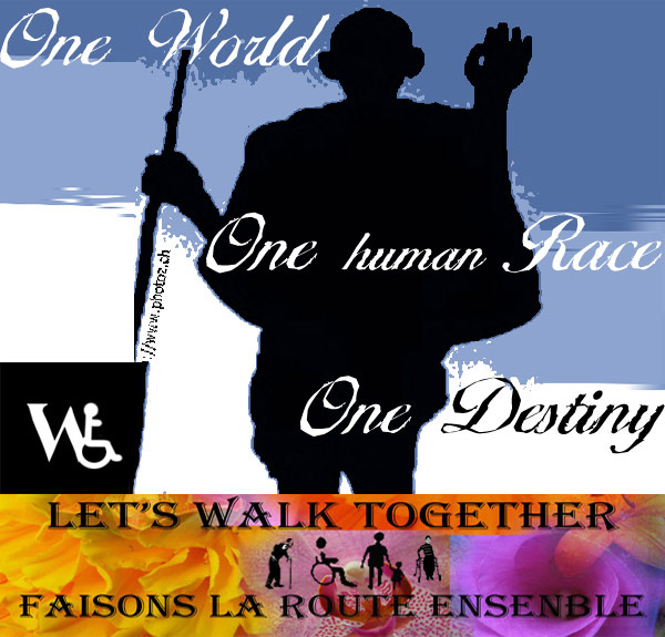 One World One Race One Destiny Let's walk together